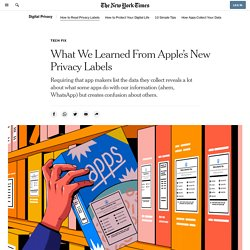 What We Learned From Apple's New Privacy Labels