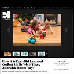 How A 6-Year-Old Learned Coding Skills With These Adorable Robot Toys