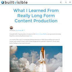 What I Learned From Really Long Form Content Production