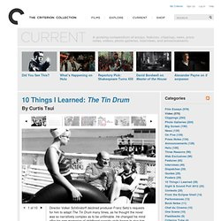 10 Things I Learned: The Tin Drum