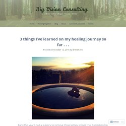 3 things I've learned on my healing journey so far . . .