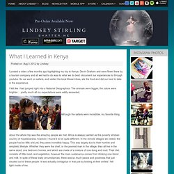What I Learned in Kenya