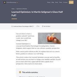 Learned Optimism: Is Martin Seligman's Glass Half Full?