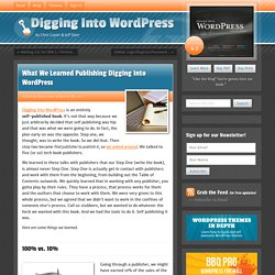 What We Learned Publishing Digging Into WordPress