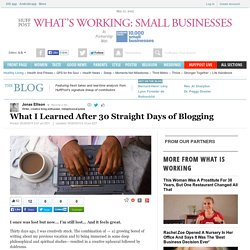 What I Learned After 30 Straight Days of Blogging