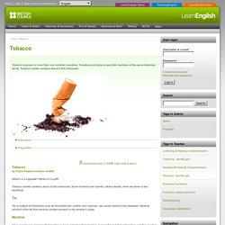 audio et texte en anglais sur le tabac (laura et philippe)