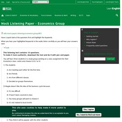 Mock Listening Paper - Economics Group