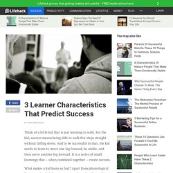 3 Learner Characteristics To Predict Success in Life