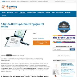 5 Tips To Drive Up Learner Engagement Online