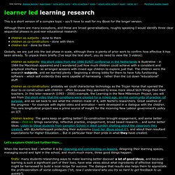 learner led learning research