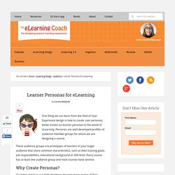 Learner Personas for eLearning