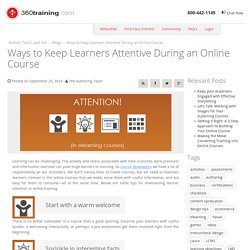 Keep Online Learners Attentive