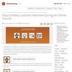 Keep Online Learners Attentive