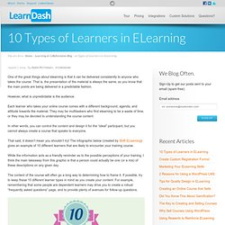 10 Types of Learners in ELearning