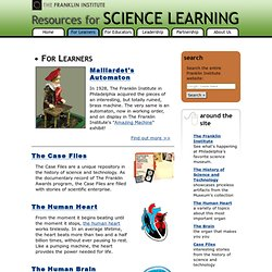 Resources for Science Learning