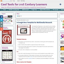 A Google Docs Template for Multimedia Research