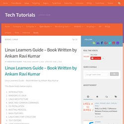 Linux Learners Guide - Book Written by Ankam Ravi Kumar - Tech Tutorials