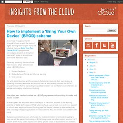 LearnersCloud Blog: How to implement a 'Bring Your Own Device' (BYOD) scheme