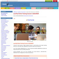 Learnfly Online Training Course in Delhi/NCR Announcement By Priyanka Sethi