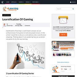 Learnification Of Gaming