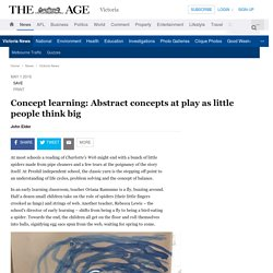 Concept learning: Abstract concepts at play as little people think big