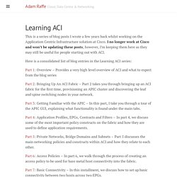 Learning ACI · Adam Raffe