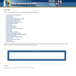 Adult Learning Activities | California Distance Learning Project