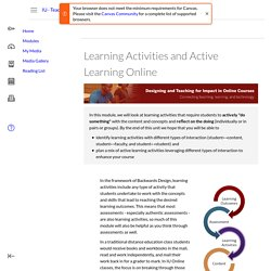 Learning Activities and Active Learning Online: IU - Teaching Online