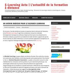 Un avenir radieux pour le Blended Learning