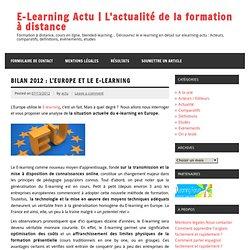 Bilan 2012 : L'Europe et le E-Learning