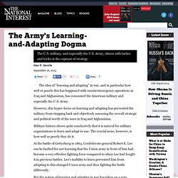 The Army's Learning-and-Adapting Dogma