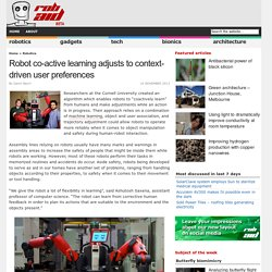 Robot co-active learning adjusts to context-driven user preferences