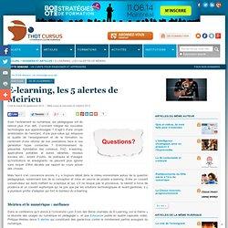 E-learning, les 5 alertes de Meirieu