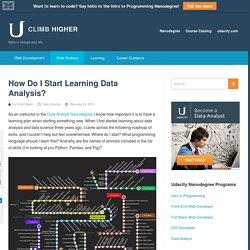 How Do I Start Learning Data Analysis?
