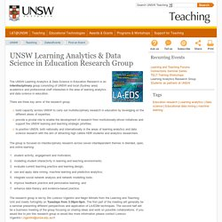 UNSW Learning Analytics & Data Science in Education Research Group