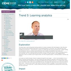 Trend 3: Learning analytics