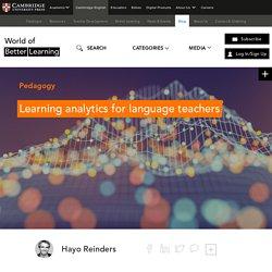 Learning analytics for language teachers