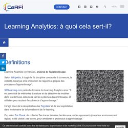 Learning Analytics: à quoi cela sert-il?
