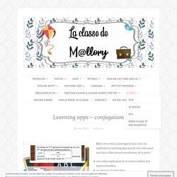 Learning apps – conjugaison