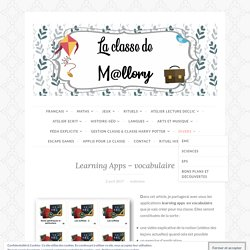 Learning Apps – vocabulaire