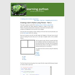 learning python » Blog Archive » Creating a GUI in Python using Tkinter – Part 2