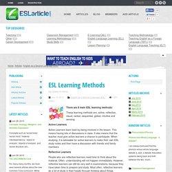 ESL Learning Methods - ESL Articles