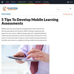 5 Tips To Develop Mobile Learning Assessments