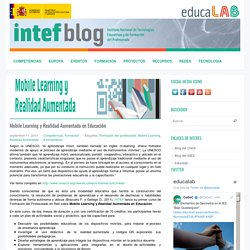 Mobile Learning y Realidad Aumentada en Educación