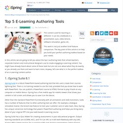 Top 5 E-Learning Authoring Tools Comparison