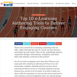 Top 10 E-Learning Authoring Tools - Feature Сomparison