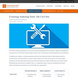 E-learning Authoring Tools: The Civil War