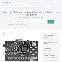 Learning FPGA And Verilog A Beginner's Guide - Introduction