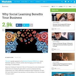 Why Social Learning Benefits Your Business