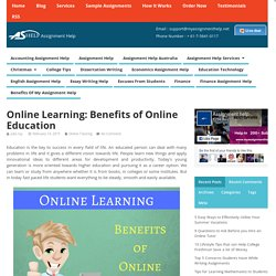 Online Learning: Benefits of Online Education